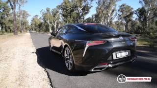 2017 Lexus LC 500h 0-100km/h & engine sound