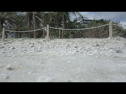 Miami Beach after Irma drone video