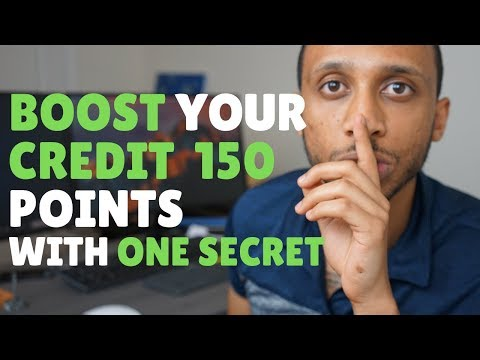 How to INCREASE CREDIT SCORE 100 points in 7 minutes | 800 CREDIT SCORE SECRET