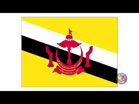 世界の国旗 World flags 6大州 日本語 英語