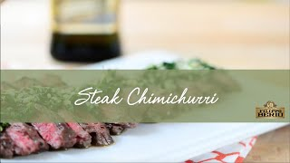 Steak Chimichurri Made With Filippo Berio Robusto Extra Virgin Olive Oil