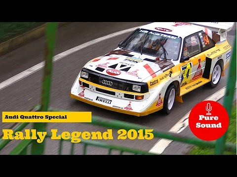 13° Rally Legend 2015 - Audi Quattro Special - Flames & Pure Sound!
