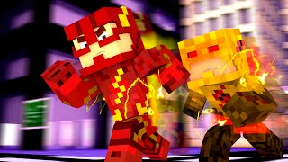 Minecraft : FLASH vs REVERSE FLASH  - (Vida de Herói #7)