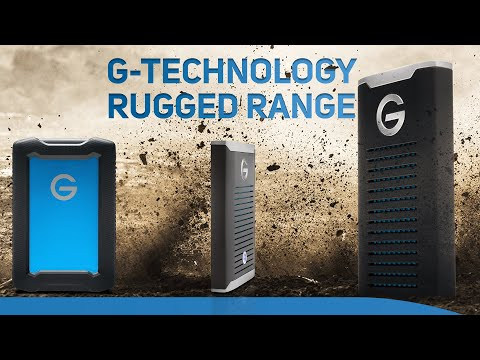 Up to 2880MB/s on a portable SSD! New Rugged HDD & SSD Range from G-Technology now at Scan!
