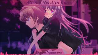 Nightcore - All You Need To Know (Gryffin &amp Slander) [Far Out Remix]