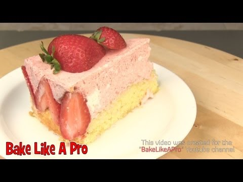 Strawberry ShortCake Recipe  / Classic French Torte Fraisier Recipe