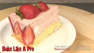Strawberry Shortcake / Classic French Torte Fraisier - Hd Video Recipe