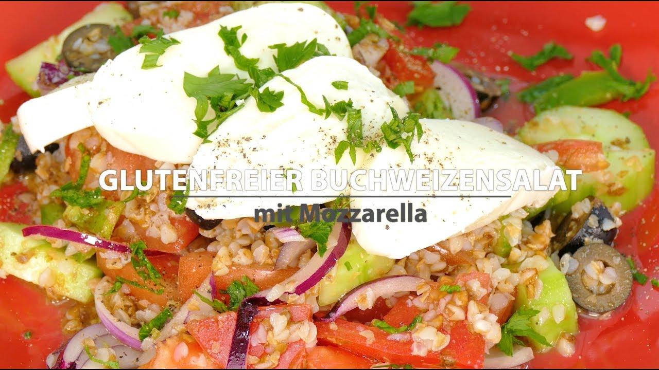 Glutenfreie REZEPTE Buchweizensalat mit Mozzarella   Ein gesundes Rezept  nach mediterraner Art