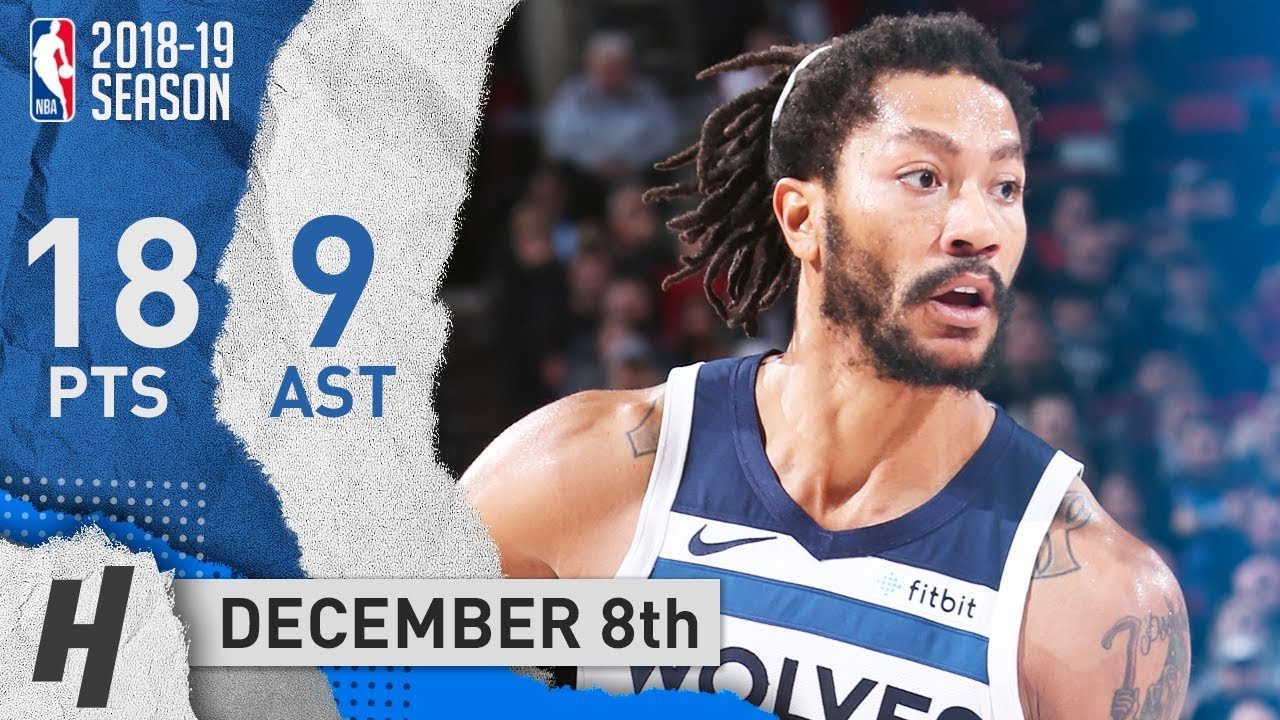 derrick-rose-full-highlights-timberwolves-vs-blazers-2018-12-08-18-pts-9-assists