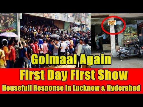 Golmaal Again First Day First Show Housefull Response In Lucknow And Hyderabad