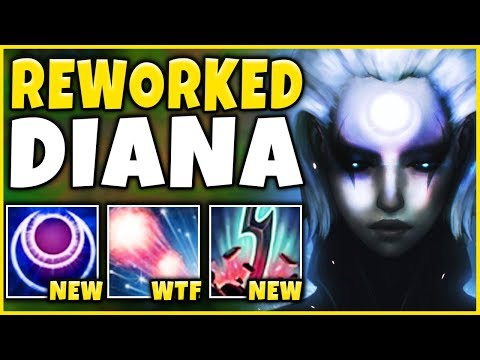 *NEW COMBO* HOW OP ARE THESE DIANA UPDATES?? 1V5 RAMPAGE - League of Legends