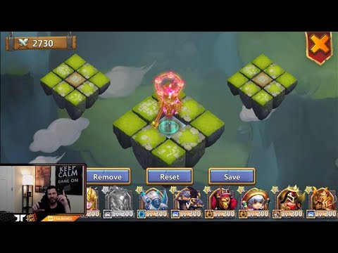 JT's Main Cirrina Storm Eater Setting Up Lost Battlefield Teams Castle Clash