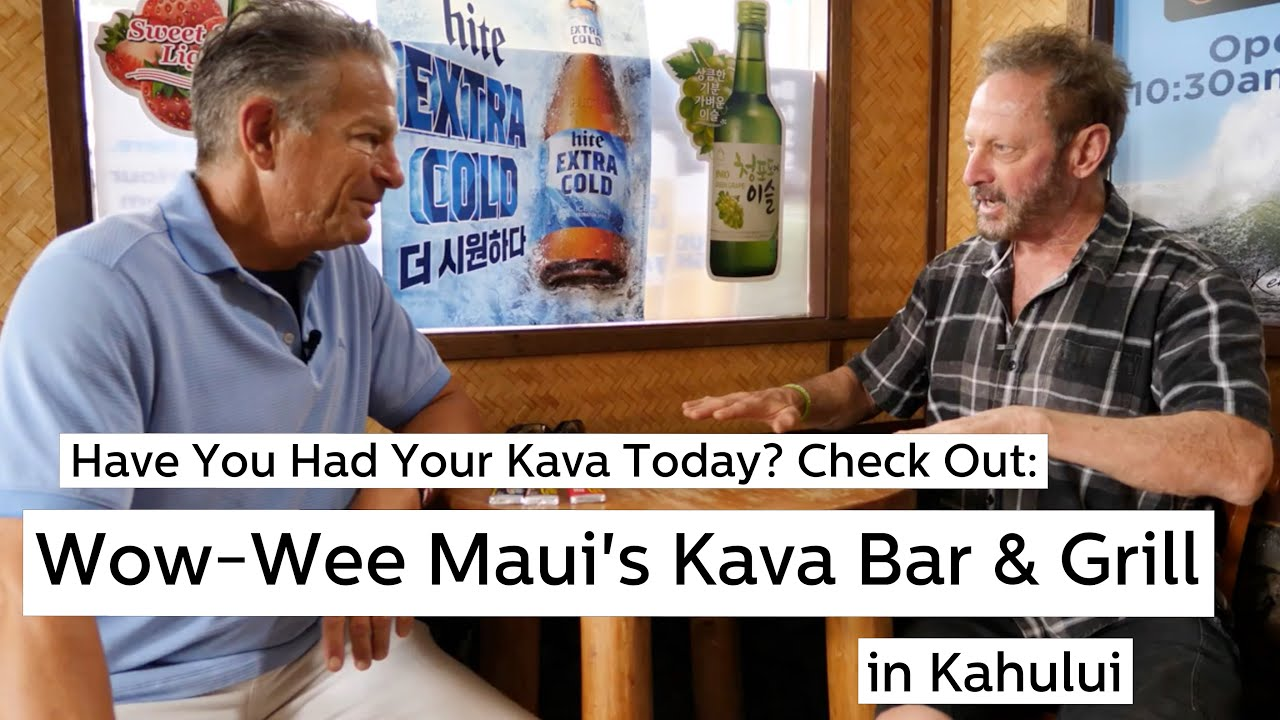 Experience Kava relaxing non-alcoholic beverage at The Wow Wee Maui´s Kava Bar and Grill!