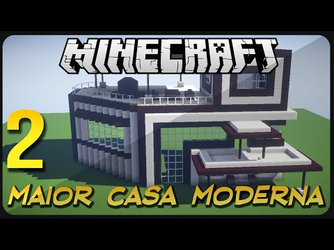 Minecraft tutorial casa moderna 10 funnydog tv for Casa moderna gigante minecraft