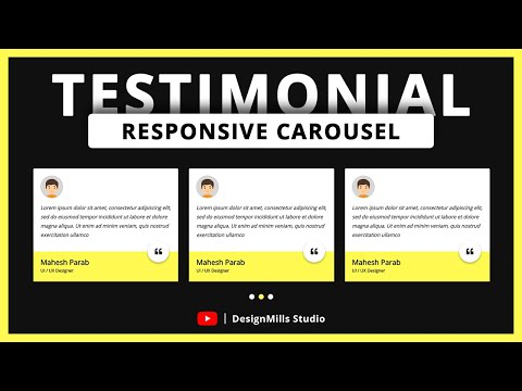 How to Create Responsive Testimonial Slider with using Owl Carousel 2.3.4 |  Mahesh Parab thumbnail