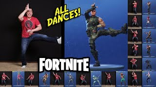 DAD DOES ALL THE FORTNITE DANCES!!! Fortnite Dance Challenge im echten Leben!