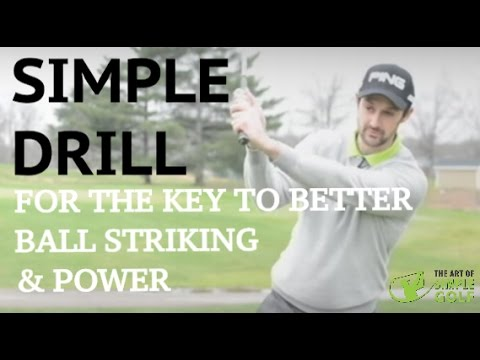 Golf Tips: One Key Drill For Better Ball Striking And Natural Power: Right Foot Practice Drill