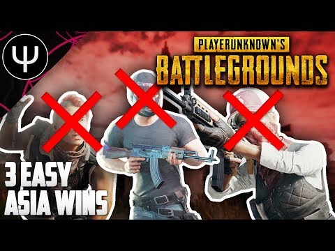 PLAYERUNKNOWN'S BATTLEGROUNDS — 3 EASY Asia Wins!