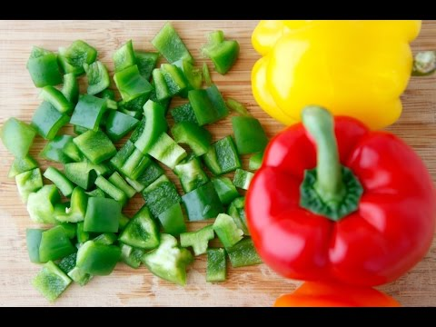 How to Cut a Bell Pepper - Cooking Quick Tips - Weelicious - YouTube