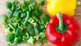 How to Cut a Bell Pepper - Cooking Quick Tips - Weelicious