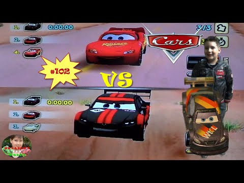 DISNEY PIXAR CARS - MATER NATIONAL - PART#102 - NORTH WILLYS BUTTE - MCQUEEN VS OTTO