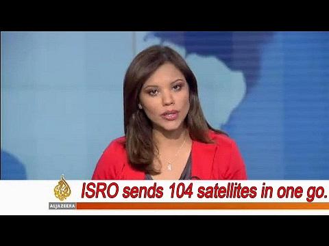 Al Jazeera on ISRO record launch of 104 satellites