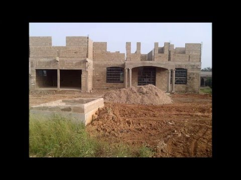 Building in Ghana Part 1 || Foundation to Roofing ||