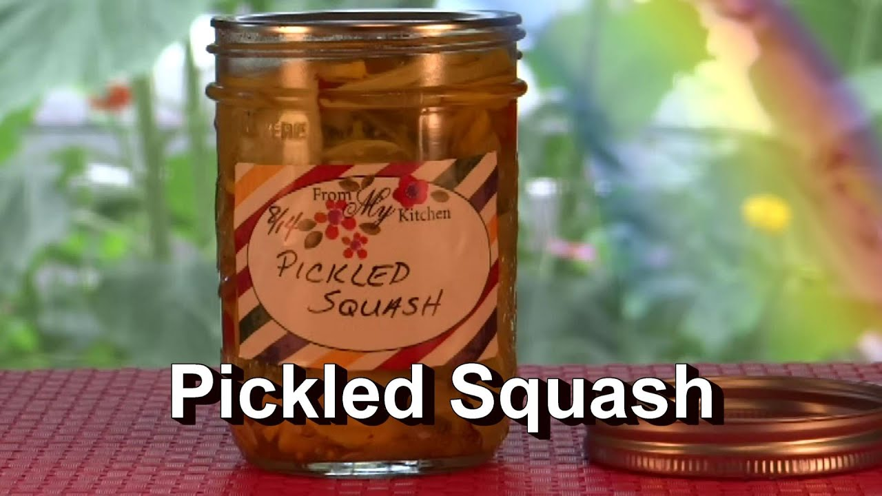 Pickled Squash Recipe, Preserving Your Summer Squash, Pattypan & More ...