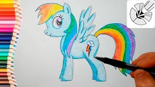 Как нарисовать пони Радугу Дэш (Rainbow Dash; Рэйнбоу Дэш) - Волшебные рисунки для детей #35(Как нарисовать пони Радугу Дэш (Rainbow Dash; Рэйнбоу Дэш) - Волшебные рисунки для детей #35 Смотреть плейлист:..., 2016-06-23T15:00:01.000Z)