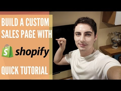 Build a Shopify landing page FREE for Black Friday: Tutorial 2019 thumbnail