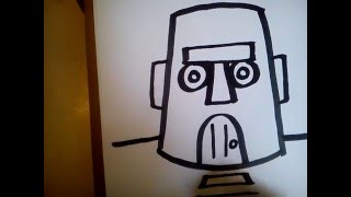 COMO DIBUJAR LA CASA DE CALAMARDO PASO A PASO / how to draw Squidward