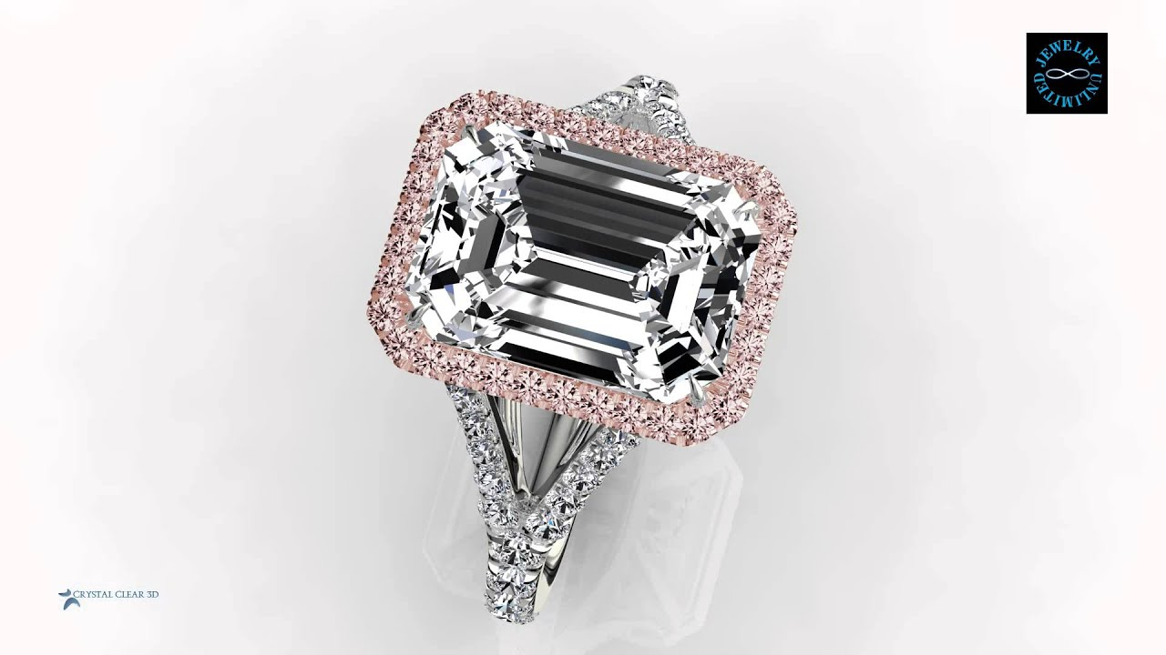 Jewelry Unlimited Nyc Ring Emerald Cut Diamond With Fancy