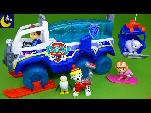 NEW Paw Patrol Toys The Great Snow Rescue Artic Terrain Vehicle Winter Snowboard Pups Christmas Toys