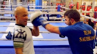 Training with THE European Boxing Champion
