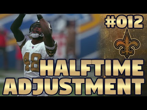 Madden NFL 17 New Orleans Saints Franchise Ep. 12 | Halftime Adjustments (1080p60FPS)