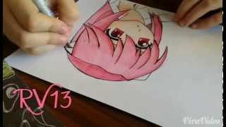 How to draw (color) Lucy/Nyu from Elfenlied+Copics