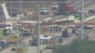 Several People Killed After Pedestrian Bridge Collapses At Florida International University thumbnail