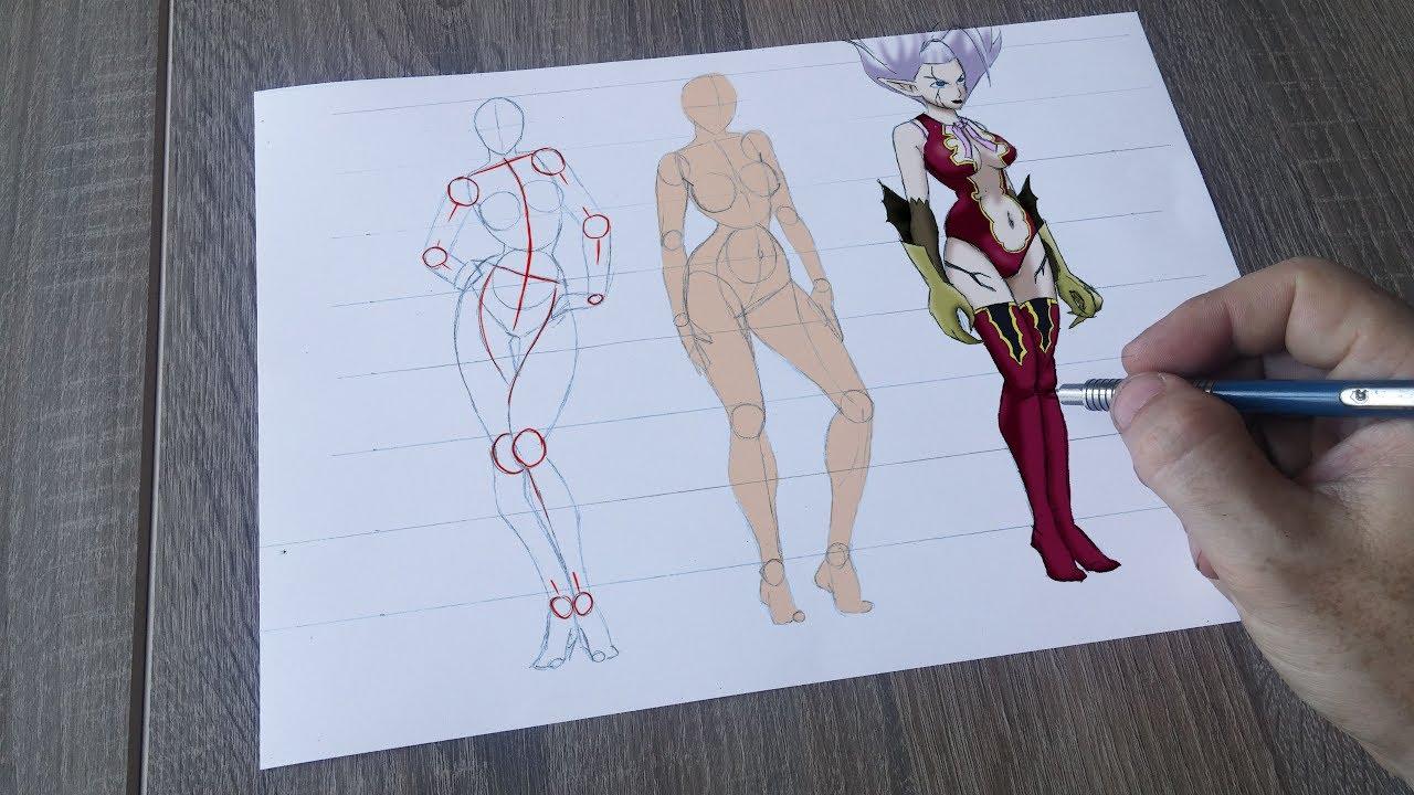 Femme Dessin Corps ✏️dessiner un corps de femme [tuto] sous différents angles avec