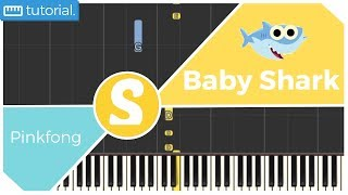 How to play BABY SHARK by Pinkfong | Smart Kids Piano | Kids Piano Tutorials