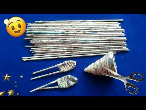 Newspaper craft   best out of waste craft idea   recycle newspaper   #HMA446