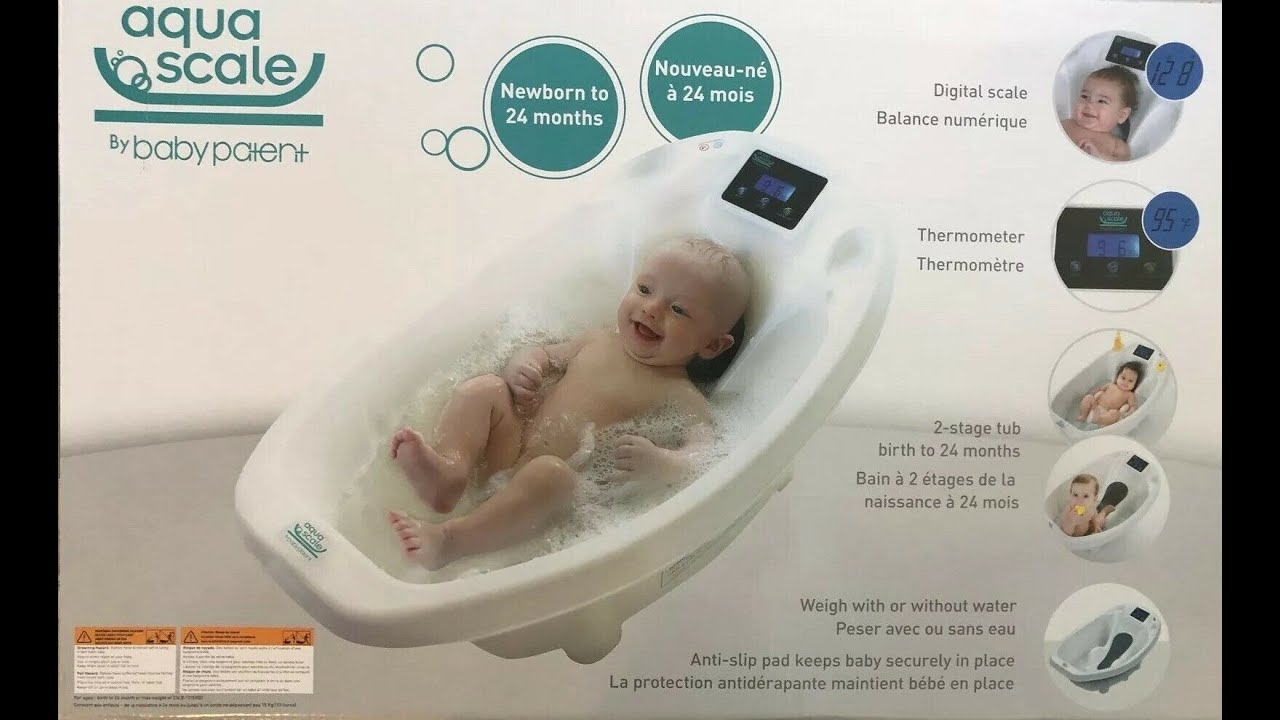 AquaScale 3-in-1 Digital Scale Water Thermometer and Infant Bath Tub