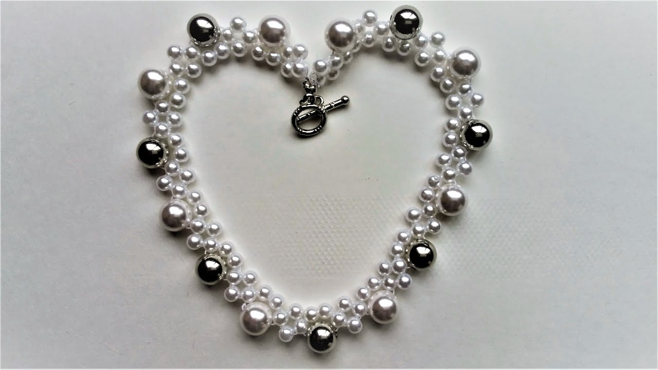 Diy Easy Pearl Necklace Handmade Jewelry Making Youtube