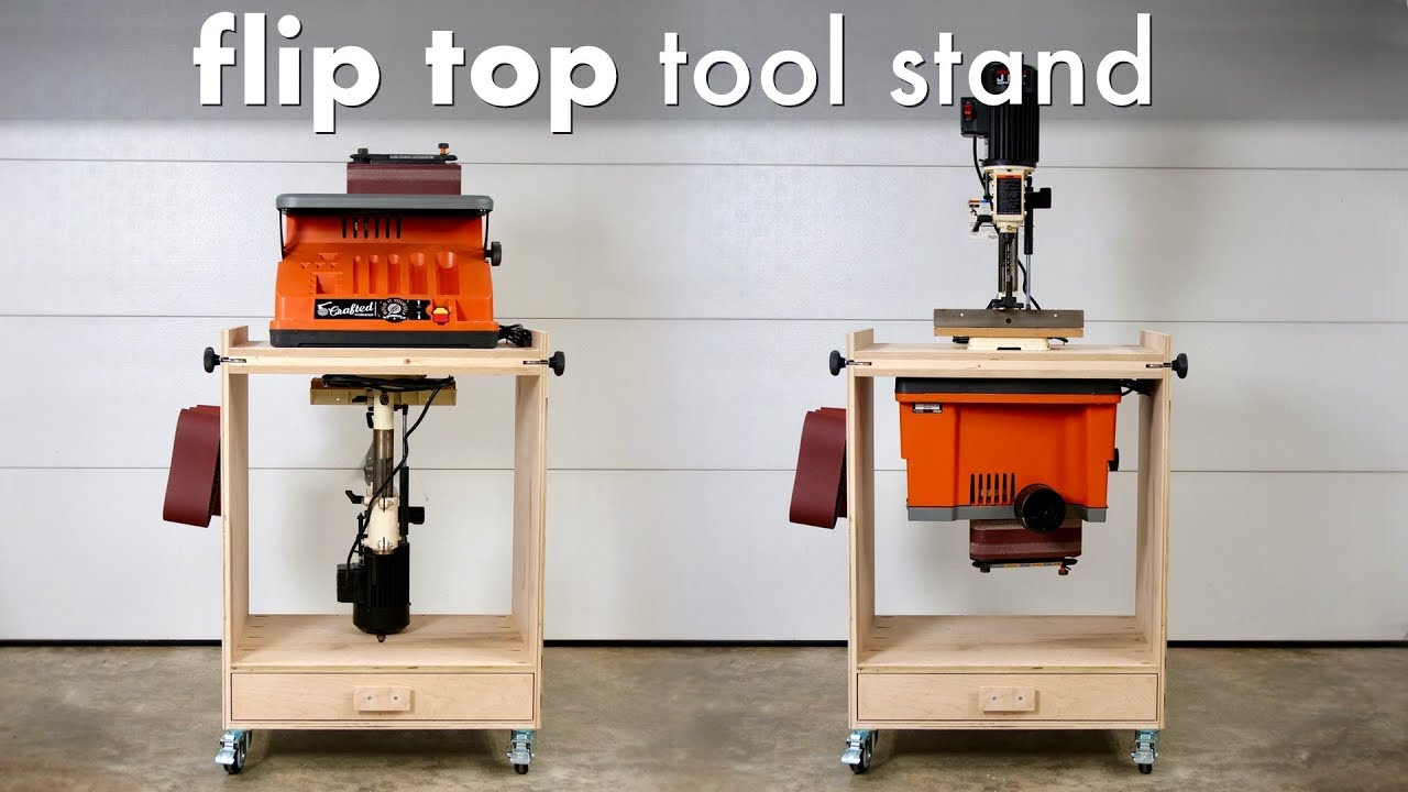 How To Build A Diy Flip Top Tool Stand Workstation