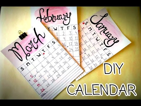 HOW TO MAKE A PERSONALIZED CALENDAR | DIY PROJECTS 2017 | DIY CALENDAR ( easy and cheap)