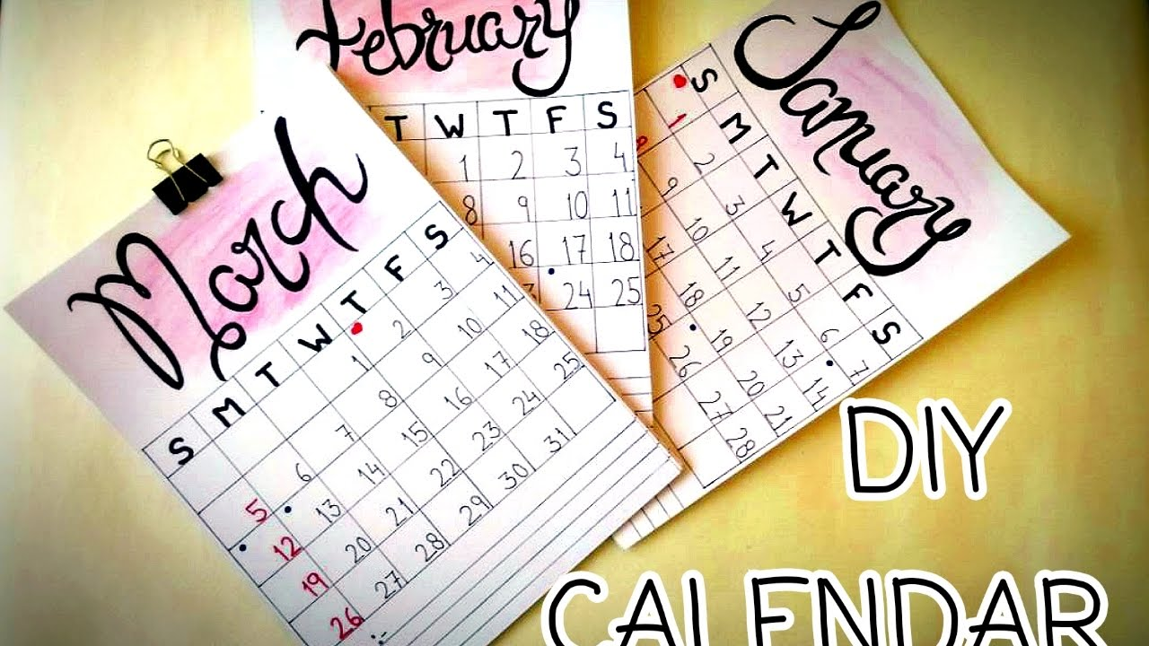 how to make a personalized calendar