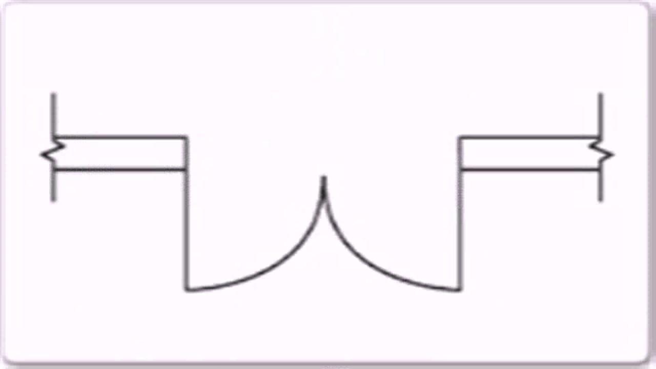 Floor Plan Symbols Sliding Door - YouTube
