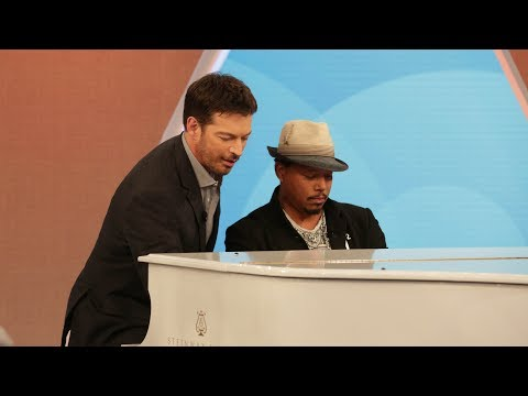 Terrence Howard and Harry Jam with the Band