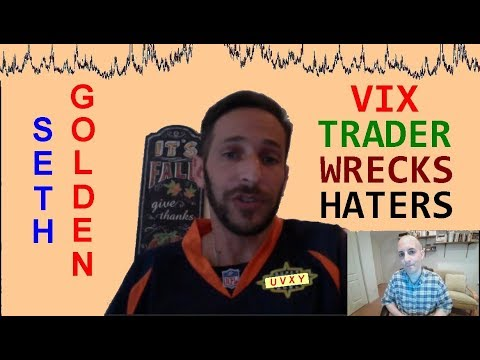 Seth Golden: VIX Trader Wrecks Haters // shorting UVXY TVIX