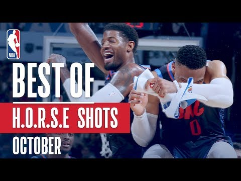 NBA's Best H.O.R.S.E. Shots | October 2018-19 NBA Season
