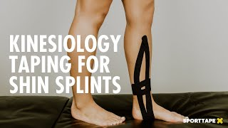 ADVANCED SHIN SPLINTS kinesiology tape application